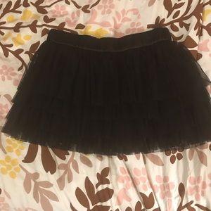 Black tutu style miniskirt - Size 12